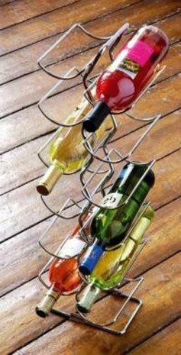 Chrome Wire 6 Tier Wine Rack