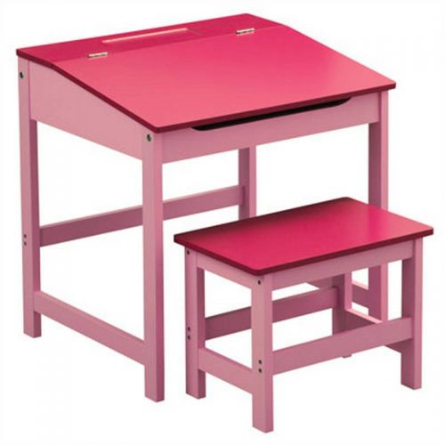 Kids Desk and Stool Set Pink