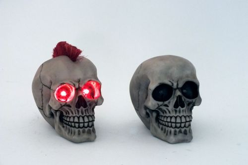 17cm LED Light Skull Decorative Ornament Figurines Gift Idea