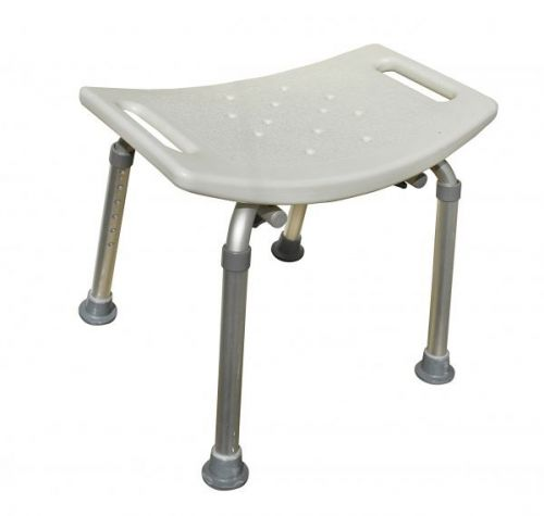 Aluminium Bath / Shower Stool With 8 Adjustable Heights 39 – 56cm Built in Handle for Support