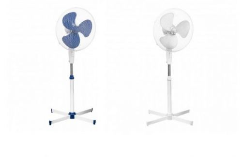 Premier Housewares 16 Inch Electric Stand Fan 3 Adjustable Cooling Speed Oscillating Safety Grill Cross Base