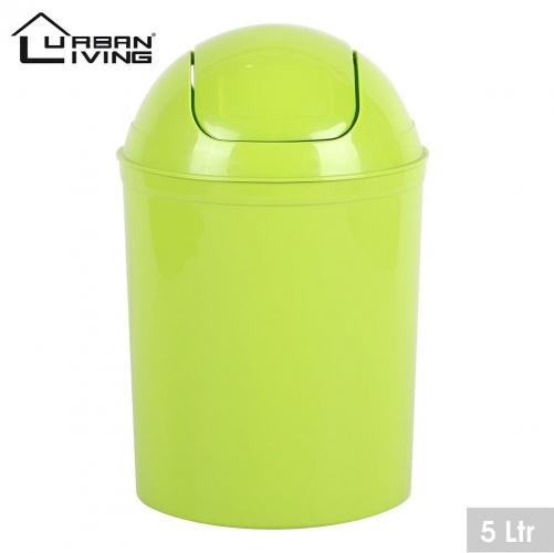 Anis Plastic 5 Litre Mini Swing Top Lid Waste Bin Office Home Bathroom