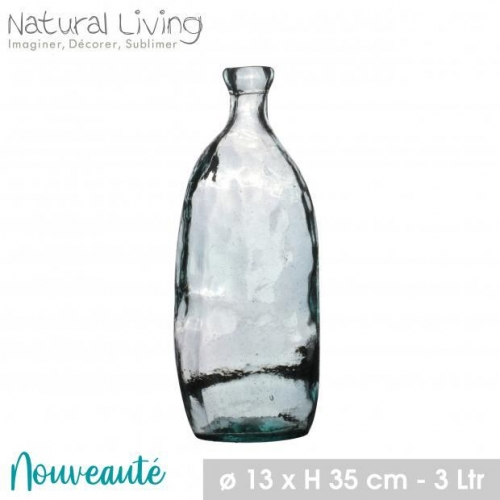 Lea Vase in Recycled Glass 3.1L