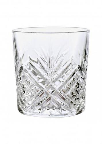 12 pcs Diamax Cut Crystal Glassware 30cl Mixer