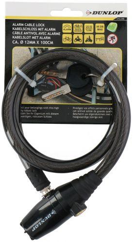 Dunlop Alarm cable lock 12x100cm strong Black