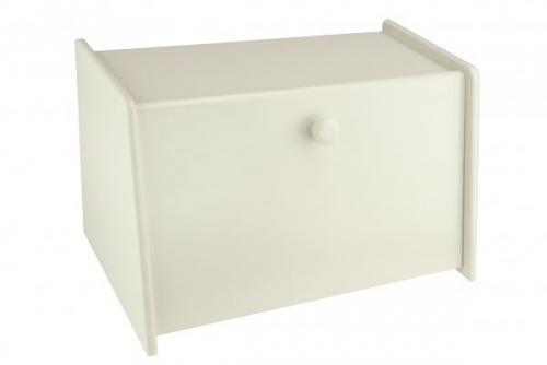 Mint Cream Wooden Bread Bin Box Front Drop Door