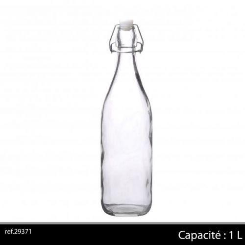 1Ltr Glass Bottle Clear