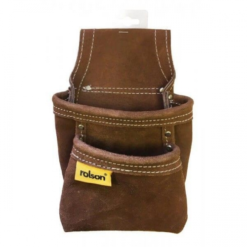 Heavy Duty Leather twin Pocket Nail Tool Pouch