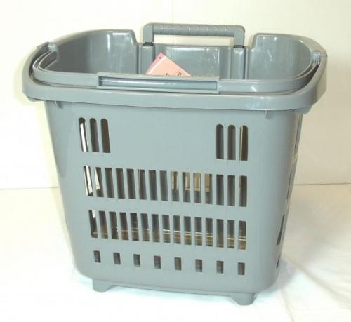 Grey Rolling Shopping, Laundry Basket