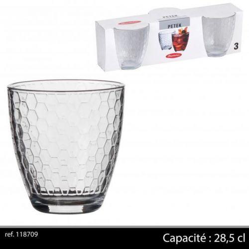 Passabache Petek  Glasses  X 3 28,5 Cl