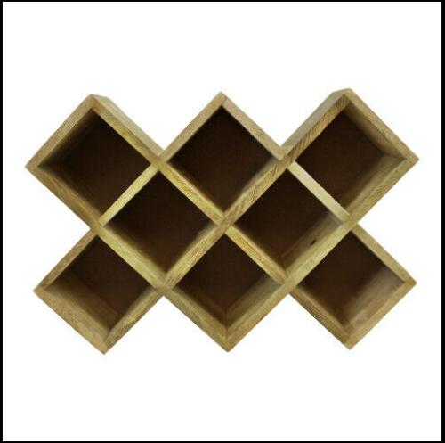Freestanding Wooden Spice Rack Storage Holder Kitchen
