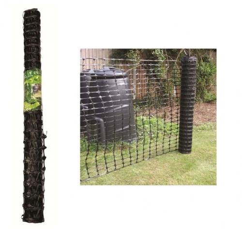 1 X 15M Black Plastic Barrier Mesh Fencing For Garden Safety