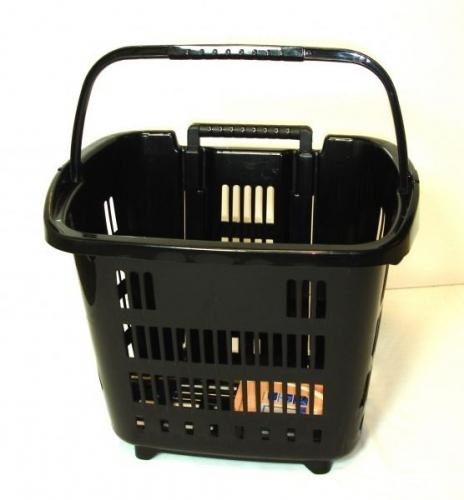 Black Rolling Shopping, Laundry Basket