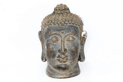 48Cm Rustic Sandstone Effect Large Buddha Head Home Garden Decoration