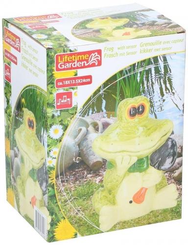 Frog with sensor 18x14x23cm Green Decorative