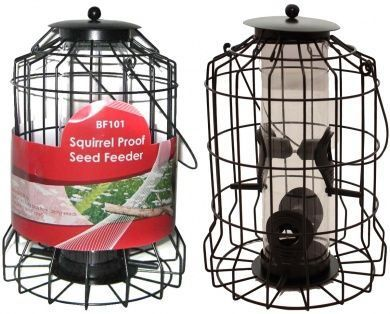 Bird Seed Feeder Squirrel Proof Wild Bird Care Feed Garden Hanging