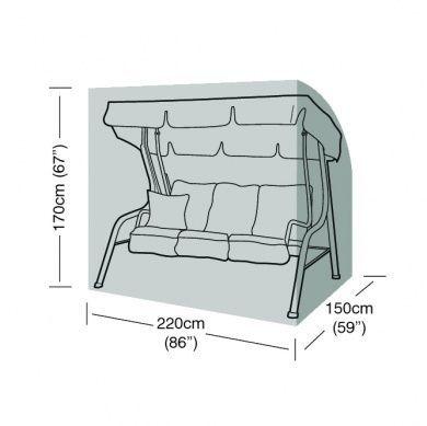 3 Seater Swing Seat Cover Waterproof Polyethylene Green