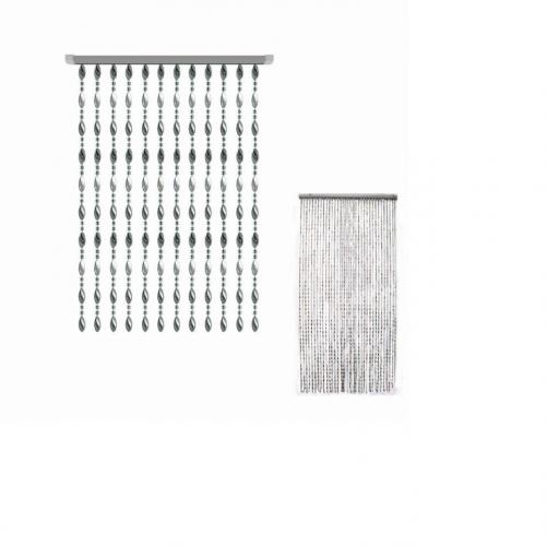 Silver Plastic Bead Curtain