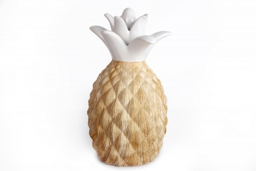 14X24Cm Wood Effect Pineapple Home Office Decoration Ornament