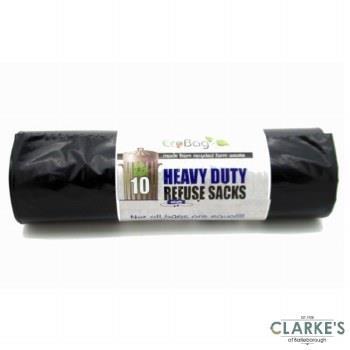20Roll of 10 Heavy Duty Refuse Sacks Super Strong Black