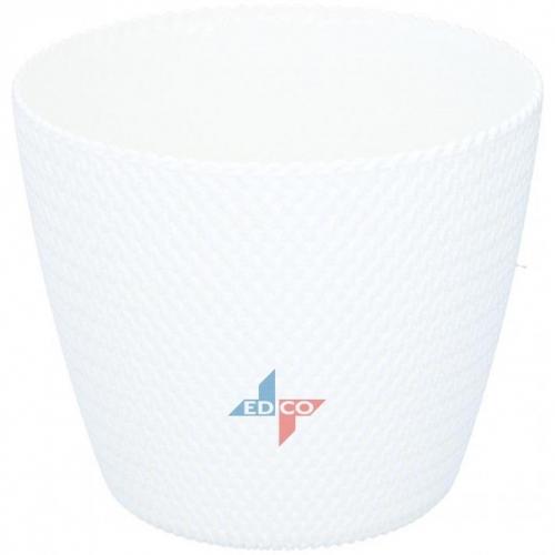 Flower Pot Waves White Plastic Decorative