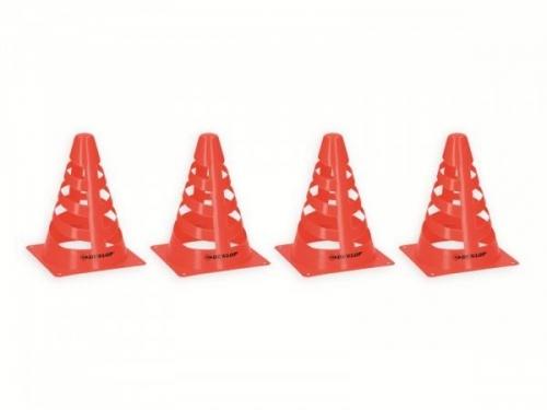 Set of 4 Dunlop Cones Plastic 18X13 CM