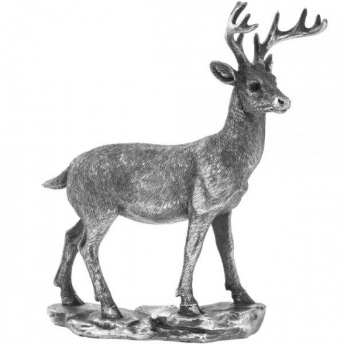 20Cm Reflections Silver Deer Ornament Home Decoration Figurine