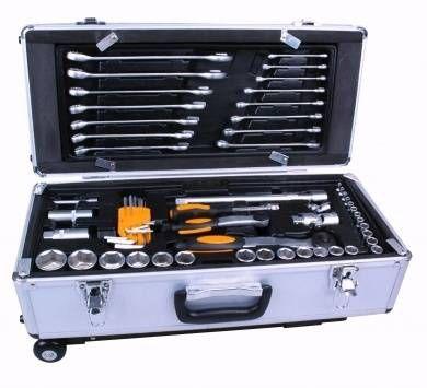 91 pc Tool Kit in Aluminium Trolley