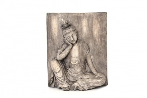 50Cm 3D Buddha Plaque Wall Hanging Home Garden Decoration Stone Effect