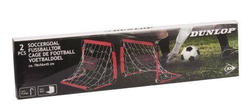 Dunlop Soccer goal 78x56x45cm 2pc Black Red