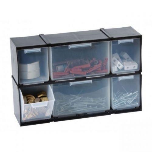 6 Tilt Drawer Cabinet Interlocking Storage Unit Home, Garage or Shed