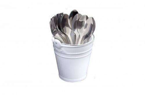 Presentation Multi Use Bucket White With Handle For Home Kitchen Restaurant