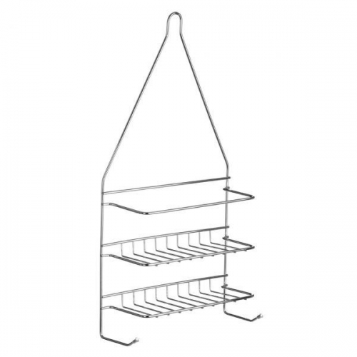 2 Tier Chrome Wire Shower Caddy Wall Hanging