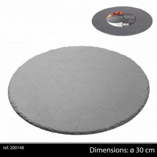 Ardoise Tableware Round Serving Platter 30cm Starter Slate Slate