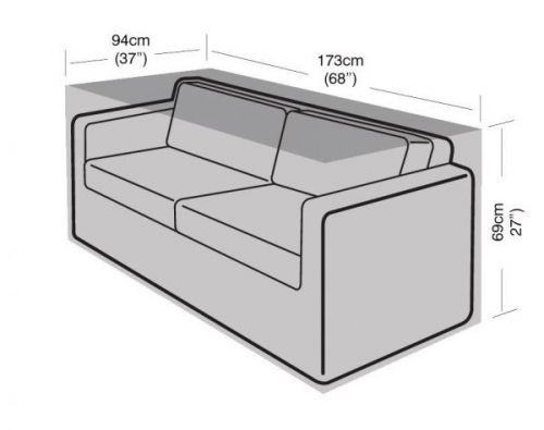2 To 3 Seater Large Garden Sofa Furniture Waterproof Cover Black 173Cm