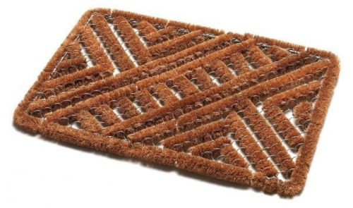 Addis 60x40cm Tuff Scrape Mat Natural Coir with Wire Duo Mix Outdoor Doormat