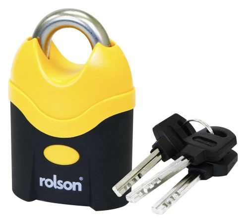 7cm Solid Steel Padlock with Shrouded Shackle 3x Keys