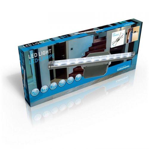 10 LED White Light bar Battery Work Home Kitchen Room Light 320 degree rotation