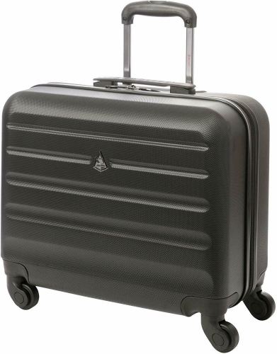 Aerolite Hard Shell Rolling Laptop Case Bag 4 Wheels 41.5x46.5x23cm