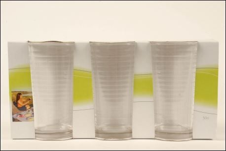 Circles Set of 3 30cl Glasses