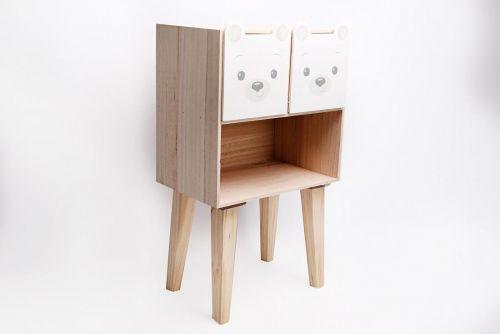 Baby Bear 2 Drawer Shelf Unit 66CM