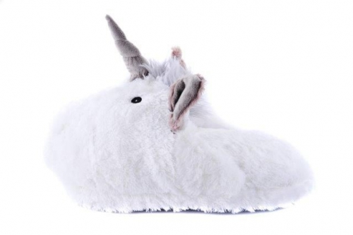 Supersoft Unicorn Double Feet Cosy Slipper Novelty Plush Foot Warmer