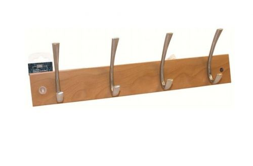4 Hooks Beech Hook Rail Hat and Coat Rack Pine Clothes Key Hanger