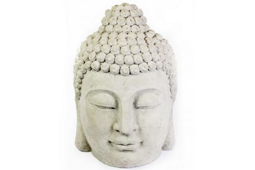 61X40Cm Large Stone Effect Buddha Head Garden Home Decoration Ornament