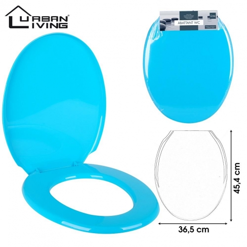 Turquoise Toilet Seat Plastic45x36cm strong