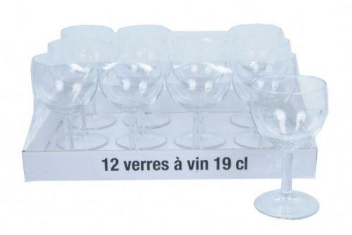 12Pcs Wine Glass Set 19cl Drink Glasses Bar Tableware