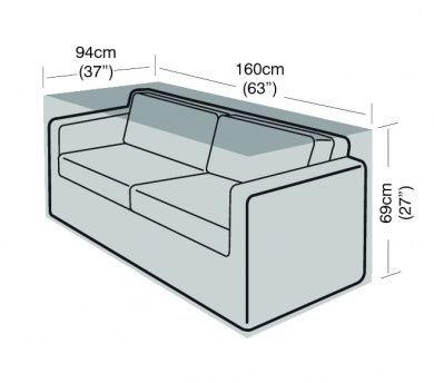 2 Seater Large Sofa Cover Furniture Polyethylene Green