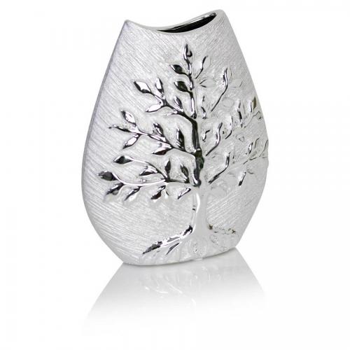Silver Vase Tree of Life Ornament Decorative