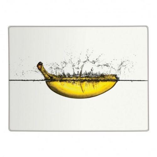 Banana Design Glass Worktop Saver Kitchen Protector Chopping Cutting Board