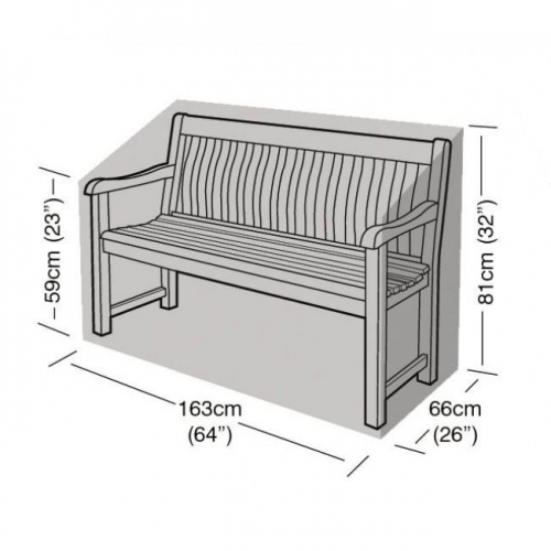 3 Seater Bench Cover Black